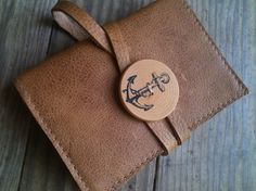 small leather handprinted journal sketchbook custom for by inblue, $15.00