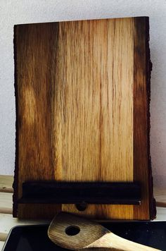 i pad stand, Live edge tablet stand, ipad hold, live edge wood, tablet stand, reclaimed wood, kitchen stand, cook book stand, free shipping