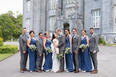 The bridal party with Kinnitty Castle as a backdrop. A real wedding by Couple Photography Wedding Ceremony, Wedding Day, Magical Wedding, Sunset Photos, Bridesmaid Dresses, Wedding Dresses, Down Hairstyles, Looking Stunning