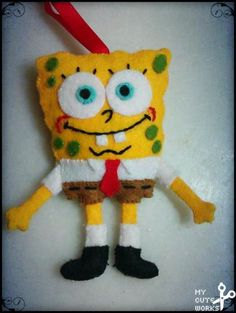 Muñeco de fieltro de Bob Esponja