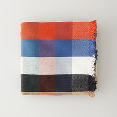 MULTI PLAID BLANKET // Hand woven cotton twill blanket in a multi-plaid pattern finished with fringe detail at the ends. Made of mid-weight Khadi fabric, a traditional handmade cloth from India. Cute Blankets, Winter Blankets, Cooling Blanket, Textiles, Plaid Blanket, Color Stories, Dream Decor, Cheap Wedding Dress, Stripes