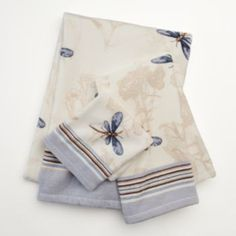 Croft & Barrow Dragonfly Valley Bath Towels