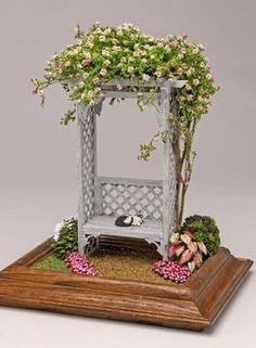 Rose Arbor - purchased piece, but beautiful for a miniature or fairy garden
