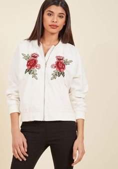 Retro Reputation Jacket in Ivory in XS, #ModCloth