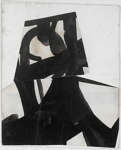 FRANZ KLINE, Untitled, 1950-52. Ink on cut and pasted papers. The Metropolitan Museum of Art, New York City, USA. / The Prodigious Century