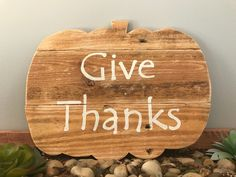 Pumpkin, Thanksgiving decor, fall decor, Halloween decor, pumpkin decor, rustic halloween, farmhouse halloween, give thanks, harvest, autumn by ShopAmbiguouS on Etsy https://www.etsy.com/listing/467498360/pumpkin-thanksgiving-decor-fall-decor