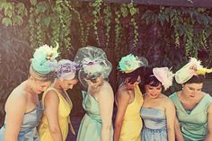 kinda like the idea of hair pieces for the bridesmaids