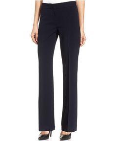 Nine West Tie-Neck Top & Flare-Leg Trousers - Suits & Suit Separates - Women - Macy's