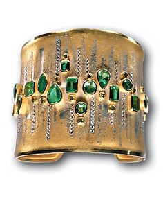 Jewels....-Atelier Zobel - Peter Schmid- amazing gold & emerald cuff. So chic.