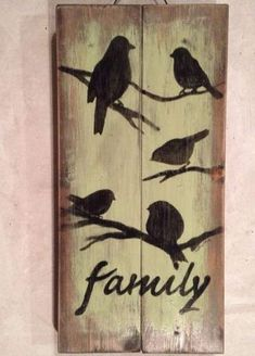 27 Trendy Ideas For Primitive Bird Houses Country Decor Barn Wood Signs, Diy Wood Signs, Pallet Signs, Rustic Signs, Pallet Painting, Pallet Art, Diy Pallet Projects, Painting On Wood, Pallet Ideas