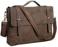 04cfcf68bba5 Genuine leather Men s briefcase 15   laptop case messenger shoulder bag  tote NEW