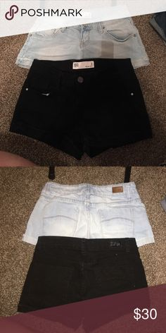 Shorts Bundle Light shorts worn a handful of times, black shorts never worn. Tilly's Shorts Jean Shorts