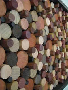 wood art WOODEN CIRCLES wood wall art wooden by StainsAndGrains