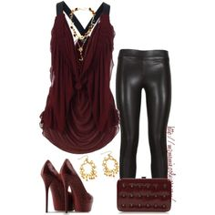 """Cute shirt, but no on the leather pants..""""Leather on your legs contest....."""" by mzmamie on Polyvore"""