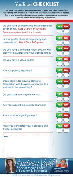 Cómo auditar tu página de #YouTube #socialmedia via @andreavahl