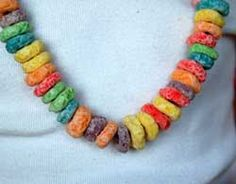 Fruit Loop Necklaces for Rainbow week