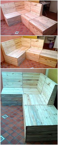 It's time to work with the old shipping pallet wood of your house and to create new, appealing creations with it. This awesome recycled wooden pallet couch is smartly styled out for your ease. The delightful settlement of the pallet slats with the rustic flavor of this durable material looks fabulous at the first sight.