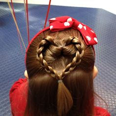 Fun Valentine's Day hair - just did this for Abby's hair on Valentine's Day today.  It was so easy, and VERY cute!  Will definitely do it again.