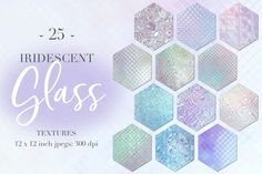 Iridescent Glass Textures By Paper Farms #rainbowtextures #affiliate #photoshoptextures