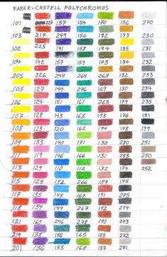 Favori Faber Castell polychromos colour chart | Faber castell, Colour  XS77