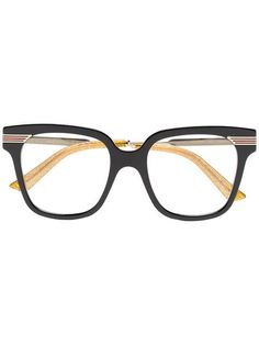 e84ecd79dfe5b0 Gucci Eyewear Black Web Detail Optical Glasses
