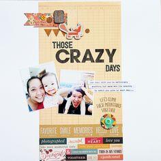 Those Crazy Days by Piradee Talvanna using Cocoa Daisy October 2014 kits (Blue Ridge) www.cocoadaisy.com #scrapbooking #cocoadaisykits #cocoadaisy #scrapbooking #baby #family #travels #kitclub #everyday #life