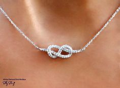 infinite diamond necklace