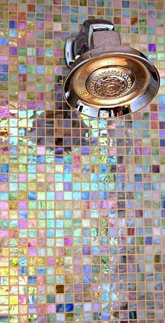 Bathroom inspiration + our choices - Kelly Caresse - Inspiration bathroom dream house: Design of the bathroom with bath, walk-in shower, mosaic tiles, g - Blog Deco, Deco Design, Tile Design, Design Case, Floor Design, Design Design, Modern Design, Bathroom Wall, Design Bathroom