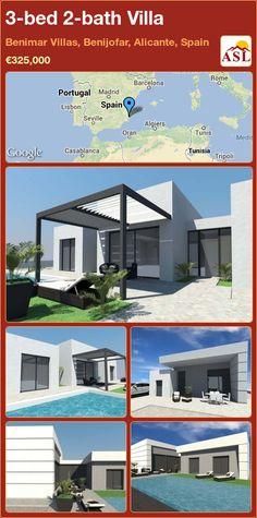 3-bed 2-bath Villa in Benimar Villas, Benijofar, Alicante, Spain ►€325,000 #PropertyForSaleInSpain