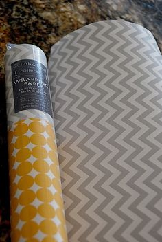 Kitchen Remodel Project -- Diy Kitchen Cabinet Update With Wrapping Paper