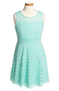 Trixxi Sleeveless Lace Dress