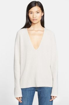 Helmut+Lang+Cashmere+&+Wool+V-Neck+Sweater+available+at+#Nordstrom