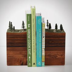 Bookends of The Earth. A beautiful contrast to the typical metallic sheen that follows most bookend styles.