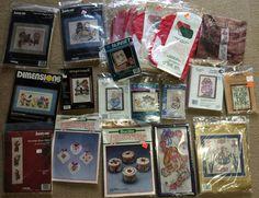 Cross Stitch Kits vintage Lot of 20 New Unused Dimensions Bucilla Sunset + #2 #Mixed #kits