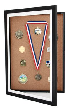 A great way to collect and display all your kids sports & academic achievement medals.