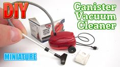 DIY Canister Vacuum Cleaner Miniature with Box