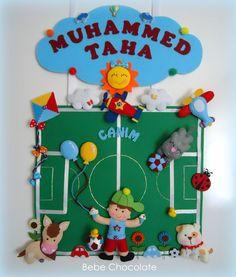 İnstargam: bebe.chocolate keçe, felt, baby, door wreath, prince, sultan, kapı süsü, şehzade, kavuk, prensli kapı süsü, balonlu kapı süsü, balon, futball, futbol kapı süsü, fanatik kapı süsü, trabzonspor,