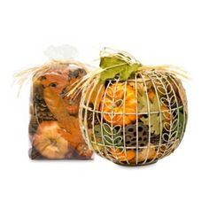 Harvest Spice Wire Pumpkin Potpourri in Orange - BedBathandBeyond.com $30