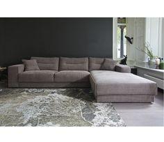 Modulebank Ruga Grey links of rechts - Rechteruitvoering Cribs, Beautiful Homes, Sweet Home, Home And Garden, Couch, Living Room, Grey, Inspiration, Furniture