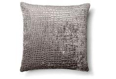 Kayla 18x18 Pillow, Gray on OneKingsLane.com
