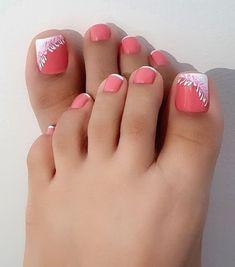 Acrylic Toe Nails, Pink Toe Nails, Pretty Toe Nails, Toe Nail Color, Cute Toe Nails, Feet Nails, Toe Nail Art, Fancy Nails, French Toe Nails