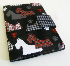 Cute Scottie Dog iPad, Kindle, Nook, Kobo Cover, Made to order. $24.00, via Etsy.