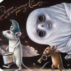 Femke Hiemstra - DETAIL - Death of a Ghost Femke Hiemstra www. Weird Art, Strange Art, Year Of The Snake, Cute Monsters, Lowbrow Art, Dutch Artists, Pop Surrealism, Art Of Living, Whimsical Art