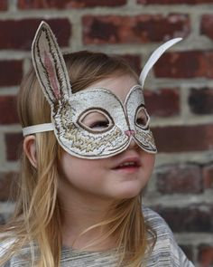 CORAL & TUSK - embroidered bunny mask