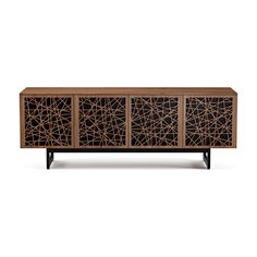 Shop the Elements Quad - Width Media & Storage Cabinet - Media Base by BDI at Price Match Guarantee and Expert Service. Large Storage Cabinets, Storage Shelves, Quad, Perforated Metal, Media Storage, Door Design, Adjustable Shelving, Console, Media Cabinets