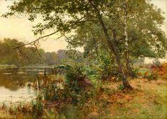 Albert-Gabriel Rigolot (1862-1932) - Lumière argentée sur l'étang
