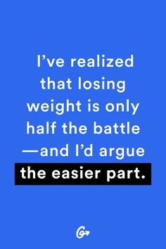 Losing weight was the easy part, I'd say. Dealing with the aftermath—and keeping it off—was... http://greatist.com/live/weight-loss-success-stories-what-no-one-tells-you-about-losing-weight