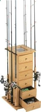 Rod rack -with this I can live with the fishing gear in the cabin. - mountaincampingzmountaincampingz