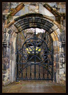 Mar's Wark - Stirling, Scotland Door Gate, Fence Gate, Stirling Scotland, Stirling Castle, Iron Work, Iron Gates, Garden Gates, Garden Archway, Garden Doors