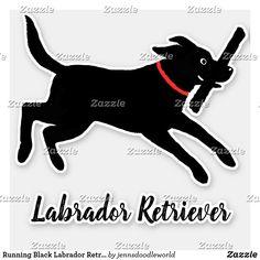 Shop Running Black Labrador Retriever Cute Dog Sticker created by jennsdoodleworld. Black Labrador Retriever, Dog Silhouette, Vinyl Sheets, Personalized Stickers, Hunting Dogs, Business Logo, Cute Stickers, Pet Dogs, Dog Breeds